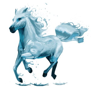 riding horse water element